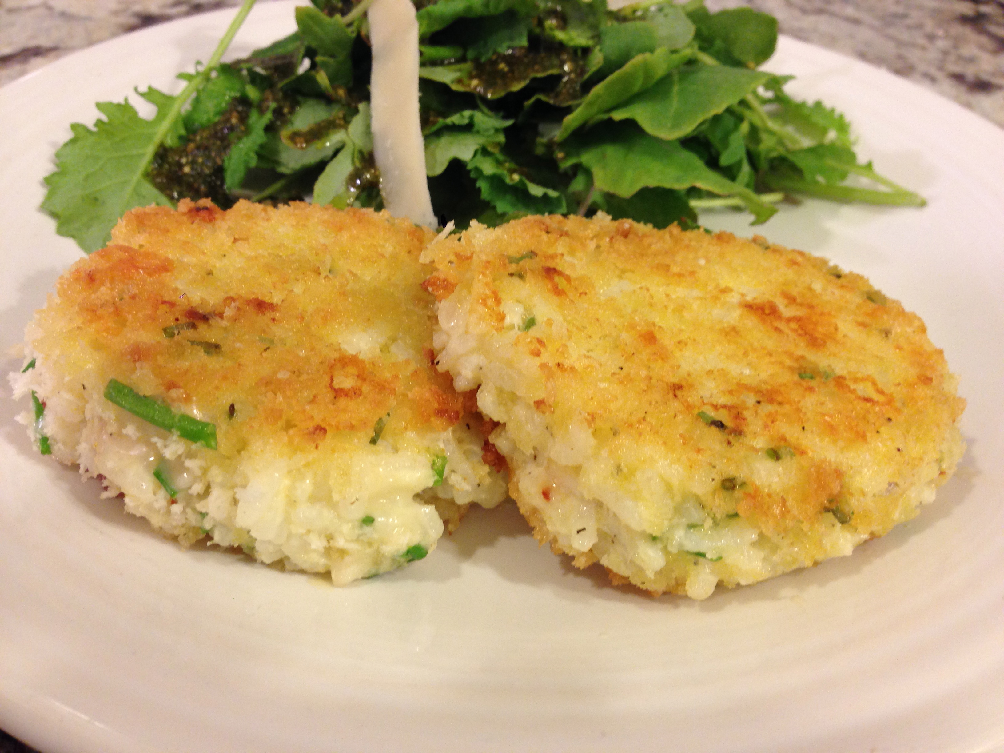 Parmesan Risotto Cakes |